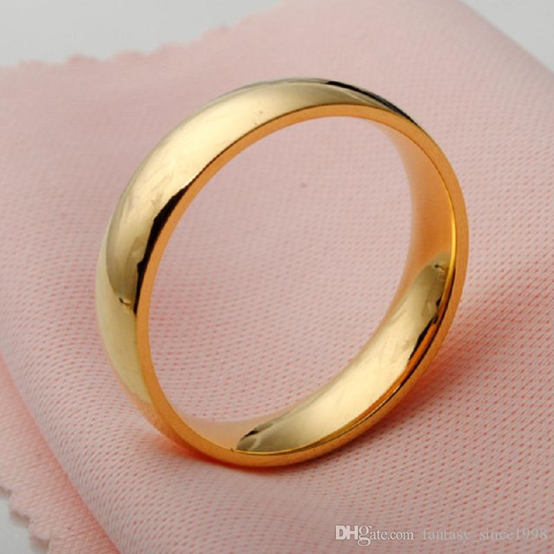 Nagelneues 25PCS goldenes 6mm nach innen poliertem Edelstahl-Hochzeits-Band-Schmucksache-Ring-Großverkauf Mischlose