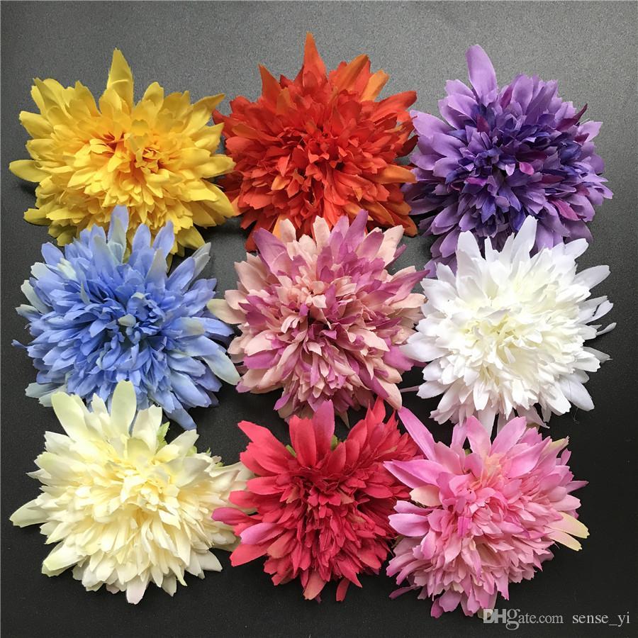 100 sztuk Chryzantema Sztuczne Jedwabne Kwiaty Dla Wesele Dekoracji Domu 9 CM Daisy Mariage Flores Dekoracja Kwiaty Rośliny