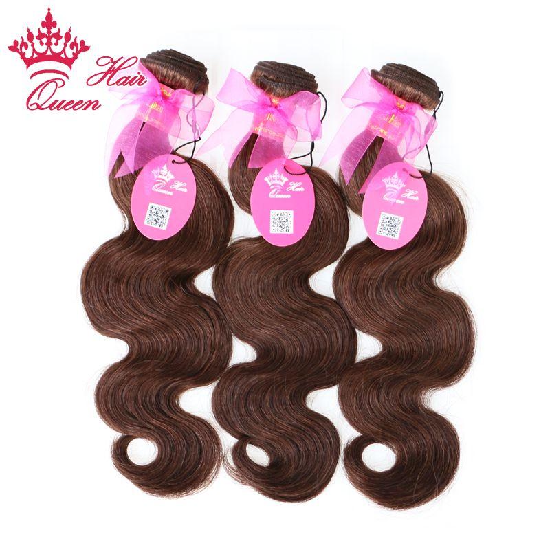 """Tessuto dei capelli umani vergini brasiliani di colore naturale del corpo di Wave 3pcs / lot # 2 di colore naturale dei capelli della regina 14 """"-20"""" DHL libera il trasporto"""