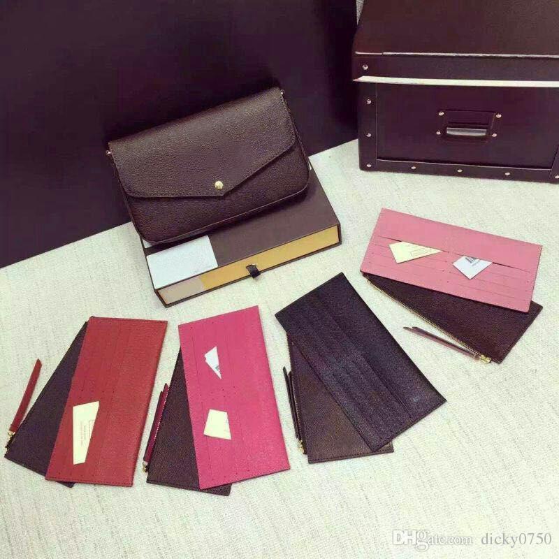 여성 체인 지갑 핸드백 노안 도매 체인 지갑 체인 숄더 가방은 세 조각 미니 메신저 가방 카드 홀더 지갑을 설정