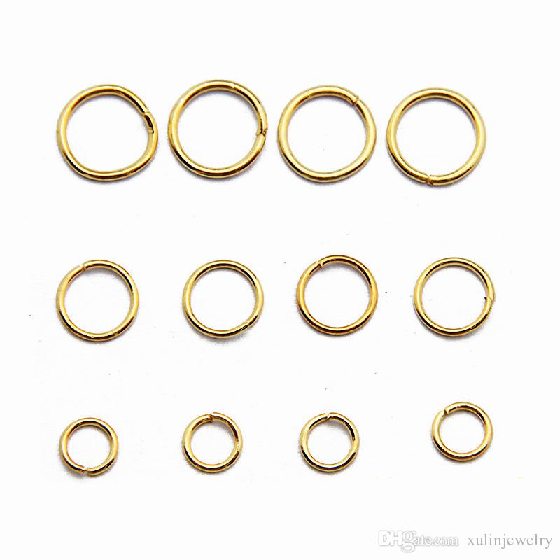 Jewelry Finding Gold Color Plate Unsoldered Stainless Steel Jump Rings for DIY Making 100g/bag JR01