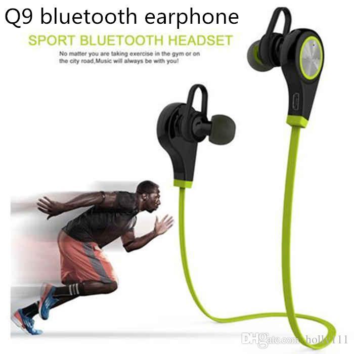 Auricolare Bluetooth Q9 Auricolare senza fili in-ear Sport con auricolari stereo Auricolari vivavoce per tablet PC