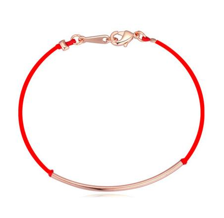 Armbänder Armreifen Mode Frauen Qualität 18 Karat vergoldet Legierung Biegung Rotes Seil Glückliche Armbänder Schmuck Drop Shipping Großhandel TBR029