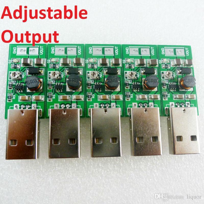 5x USB 5V to DC 6V 9V 12V 15V adjustable Output DC DC Converter Step-up Boost UPS Module for PTZ camera Smart Home LED Motor