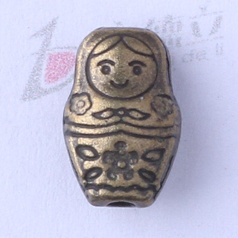 Doll beads Retro Silver/bronze Pendant 12*7.8*5.6mm Fit Bracelets Necklace Zinc Alloy DIY Jewelry 350pcs/lot 3443