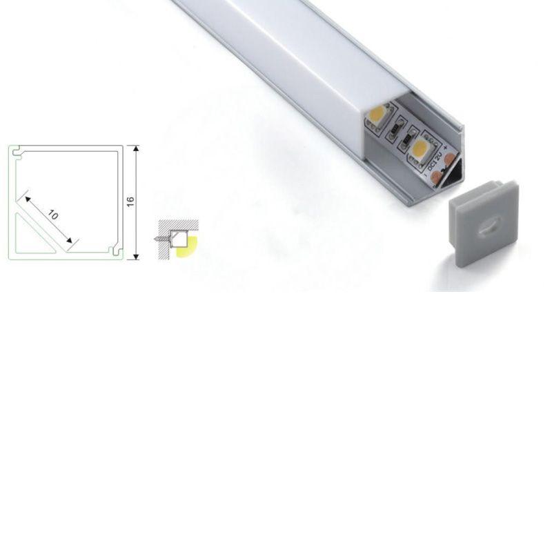 30 X 2M sets/lot 90 degree corner aluminium led profile Right angle shape led aluminum profile for wall lamps