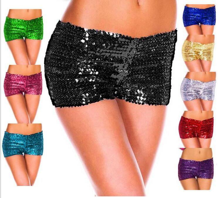 Оптовая продажа-9colors горячие новые 2016 женщин шорты блестками блестящие шорты сексуальные женщины трусики клуб шорты Бесплатная доставка