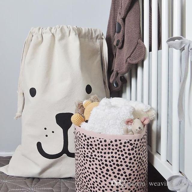 1pcs sacchetto di immagazzinaggio di Natale ins sacchetti di immagazzinaggio di tela calda animale carino faccia borse di stoccaggio batman per abbigliamento bambino bambini maternità