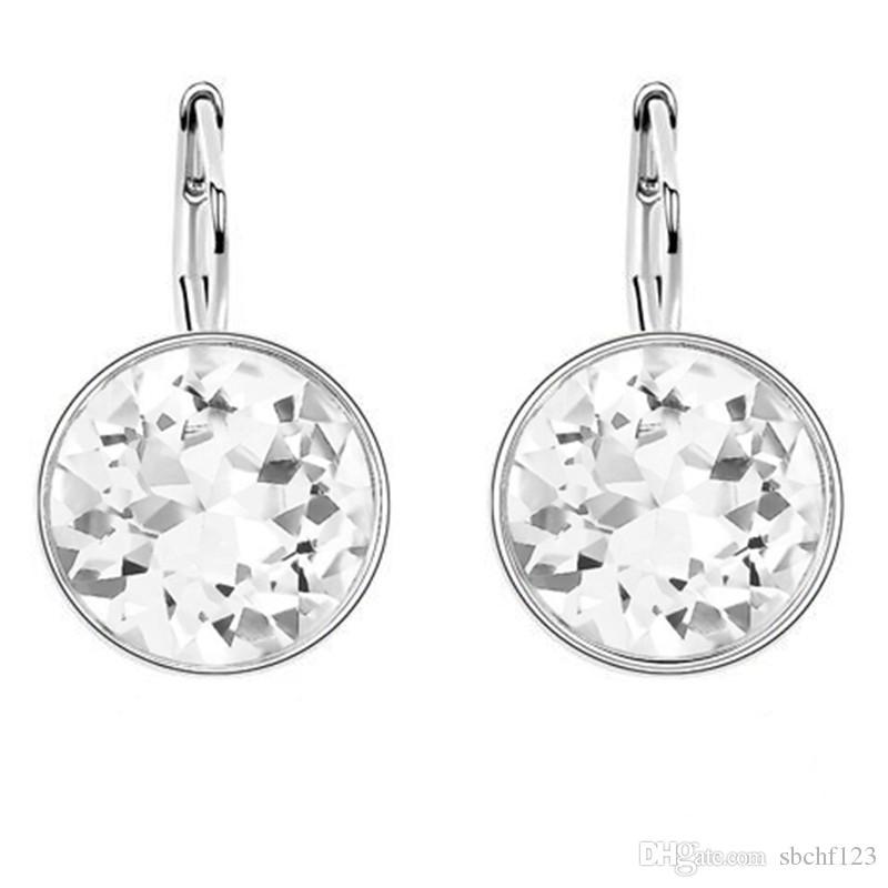 Originele bengelen oorbellen voor vrouwelijke charme sieraden platina plated gemaakt met Swarovski elementen kristal drop oorbellen voor vrouwen 6323