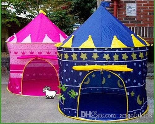 Childrens Tent Prince And Princess Childrens Tent Palace Castle Children Playing Indoor Outdoor Toy Tent Colors Mixed Lovely Toy Play House