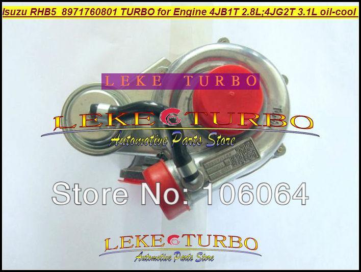 Wholesale New RHB5 VA190013 VICB 8971760801 turbo for ISUZU Engine 4JB1T 2.8L 4JG2T 3.1L oil cooled turbocharger