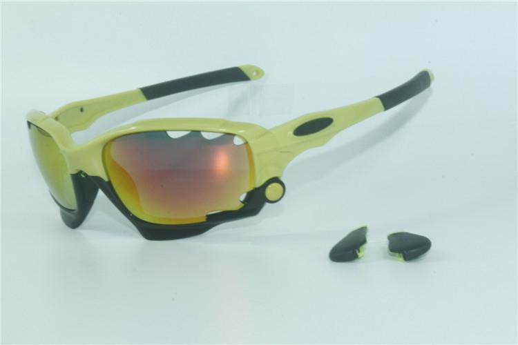 Novas mulheres dos homens de Corrida Jaqueta OO9171 Vented Lens Óculos De Sol Óculos de Esporte Para Ciclismo Eyewear Bicicleta 3 Pcs Lens