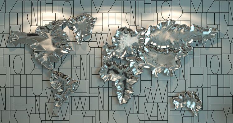 Original resin ceramic wall art world map sculpture wall decals original resin ceramic wall art world map sculpture wall decals handmade wallstickers unique interior design handicraft gumiabroncs Images