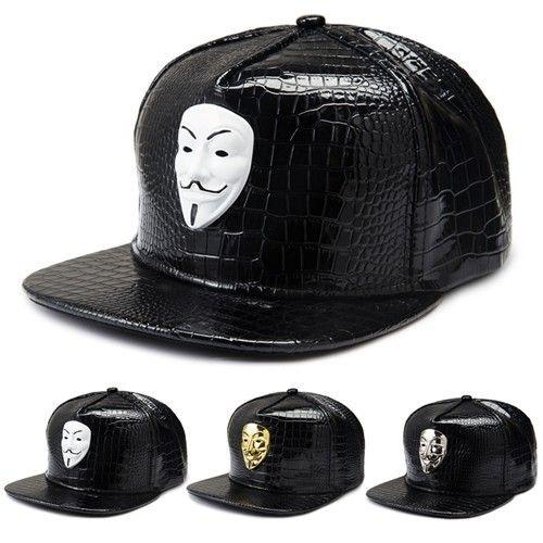 Alta calidad Hip Hop baseb Vintage America Drama V Para Vendetta Hombres Hip Hop Sombrero Gorras de béisbol Casual Snapback Swag Estilo Oro / Plata / Blanco