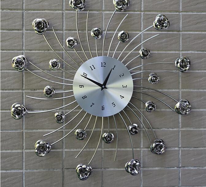 GRACEFUL!European-style living room wall clock bedroom creative ...