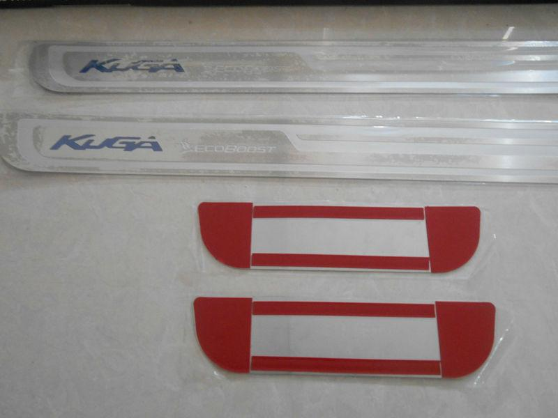 Para 2014 Aço inoxidável KUGA peitoril da porta placa do Scuff Ultra-fino Faixa de Limiar Bem-vindo Pedal Car Styling Acessórios 4 pcs / set