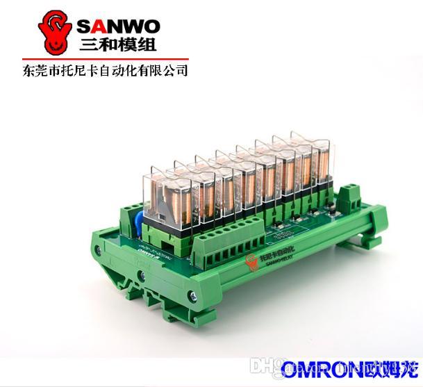 8-channel Omron Original & New Relay Module PLC Amplifier Board G2R-1-E (NPN or PNP,12VDC or 24VDC)