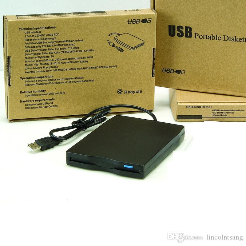 """Toptan 100 adet / grup Sıcak 1.44 Mb 3.5 """"Laptop için USB Harici Taşınabilir Disket Sürücü Disketi FDD"""