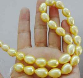 chiusura in oro mare del sud all'ingrosso 12-13mm naturale barocco oro perla collana da 19 pollici 14k