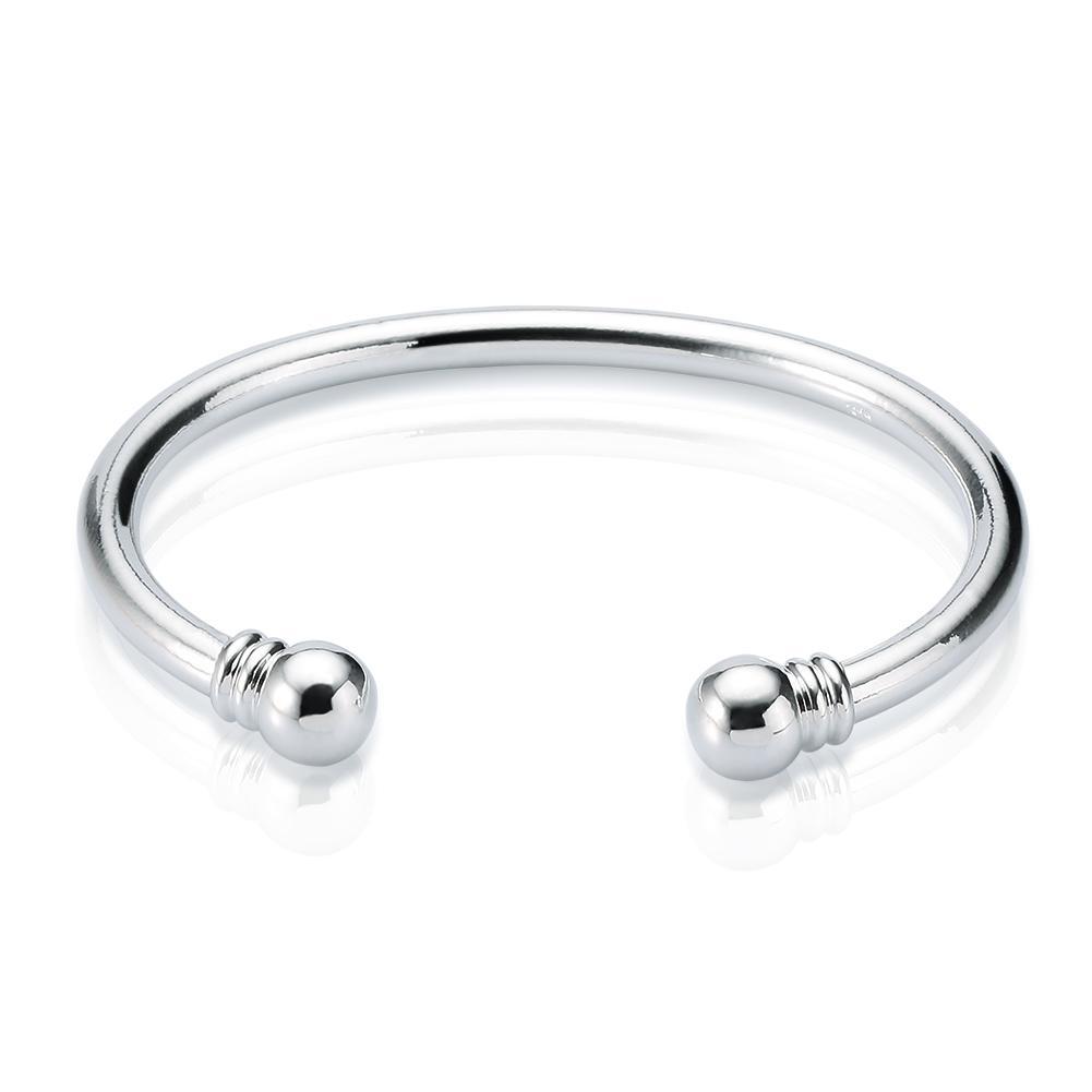 Neue Ankunft 925 Sterlingsilber-Stulpearmband Drehmoment-normales Armband-Armband-Armbänder der offenen Größe für Frauen Freies Verschiffen