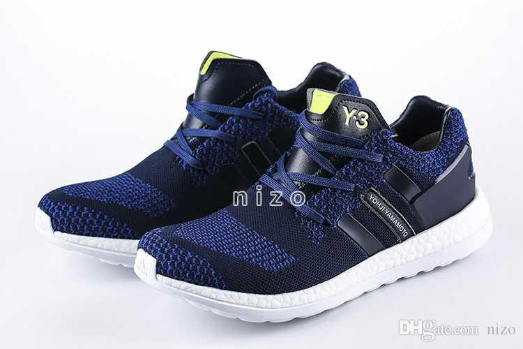91796dfb6 ... 2016 Y3 Pure Boost Primeknit Boost ZG Knit Mens Athletic Y3 Shoes Pure  Boost Mens Ultra ...