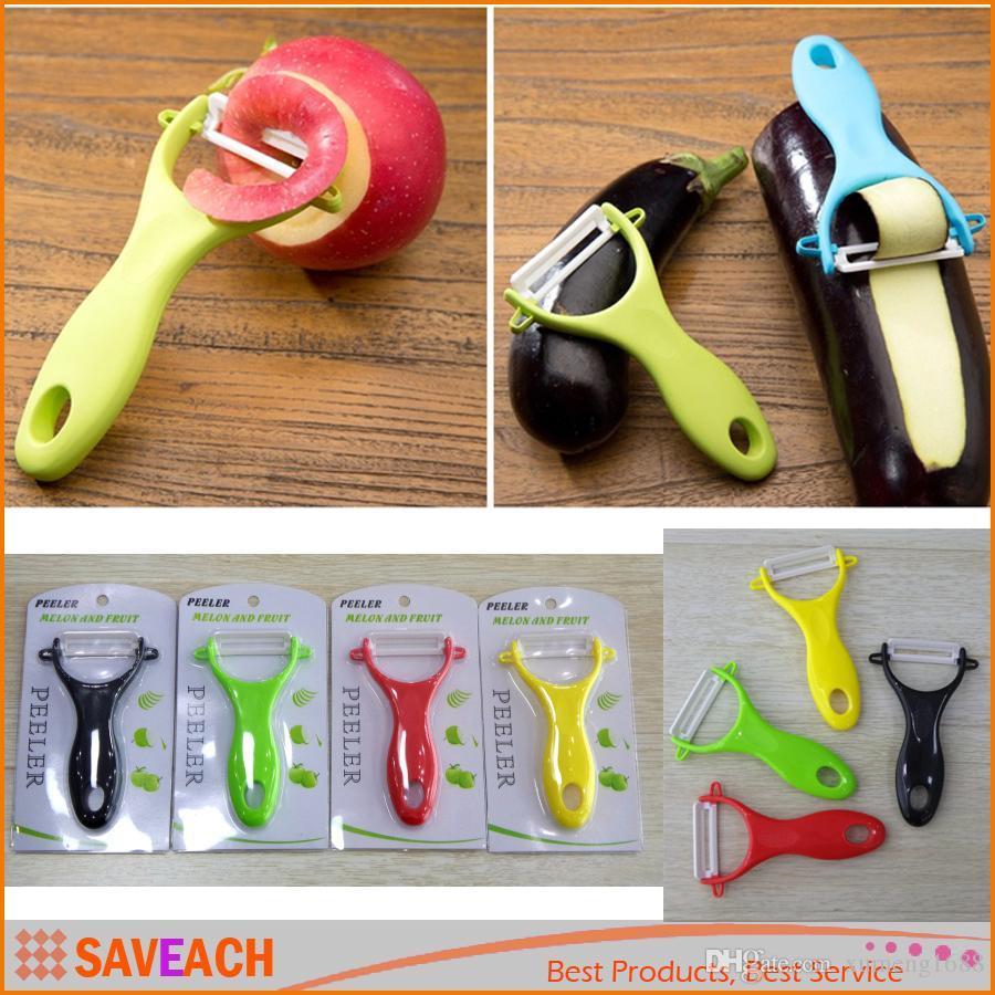 New Design Colorful Fruit Vegetable Potato Zirconia Ceramic Peeler Kitchen Tool Helper Paring Knife, With Retail packaging