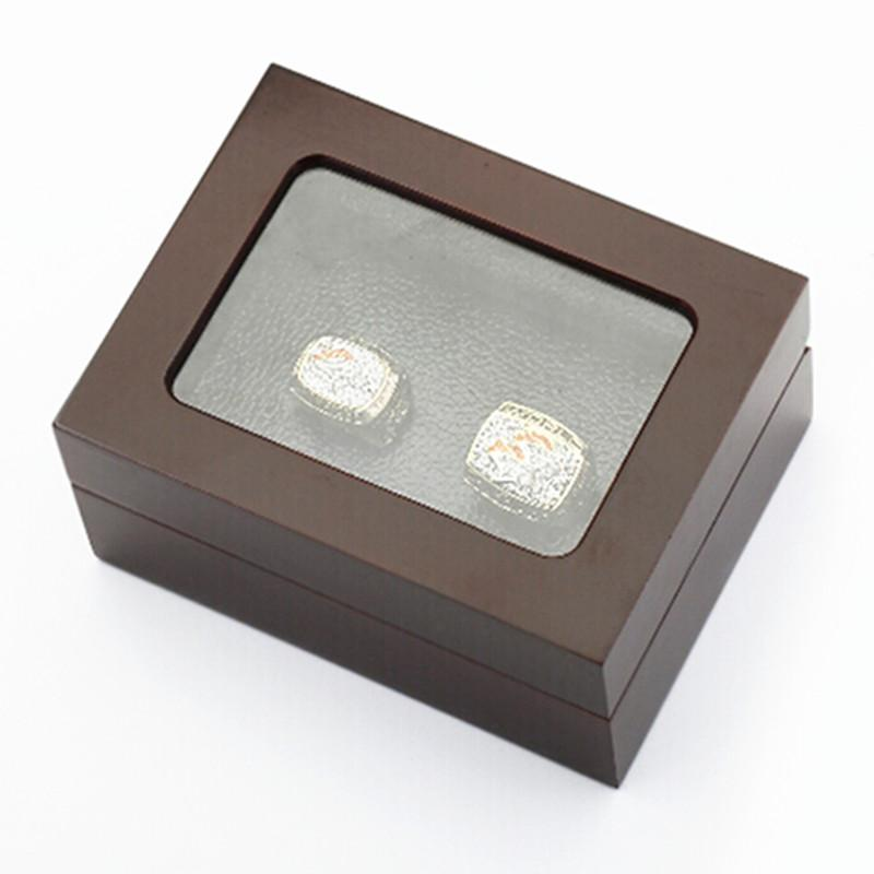 Factory price high quality two slots wooden display ring box 16*12*7(cm) drop shipping