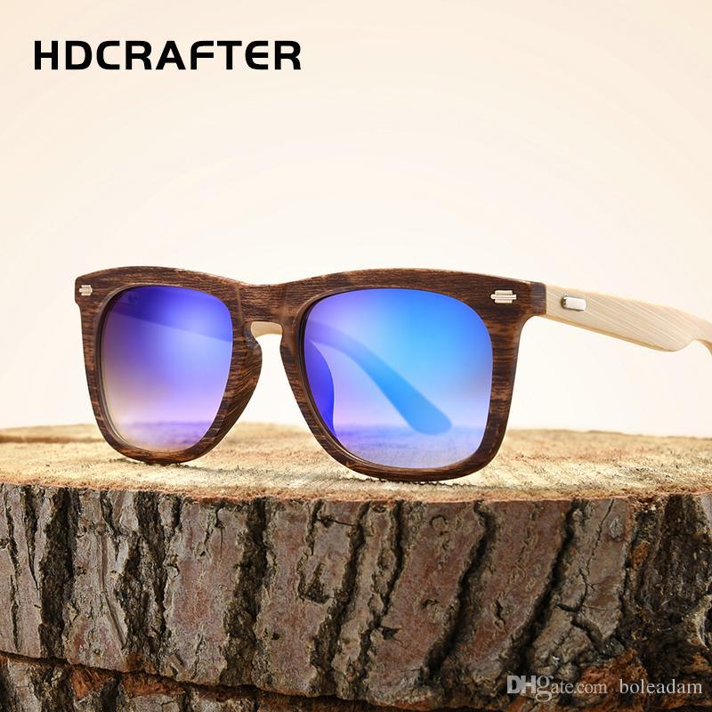2018 New Bambus Sonnenbrille Männer Holz Gläser Mit Fall Frauen Markendesigner Original Holz Sonnenbrille FrauenMänner Oculos De Sol Dragon