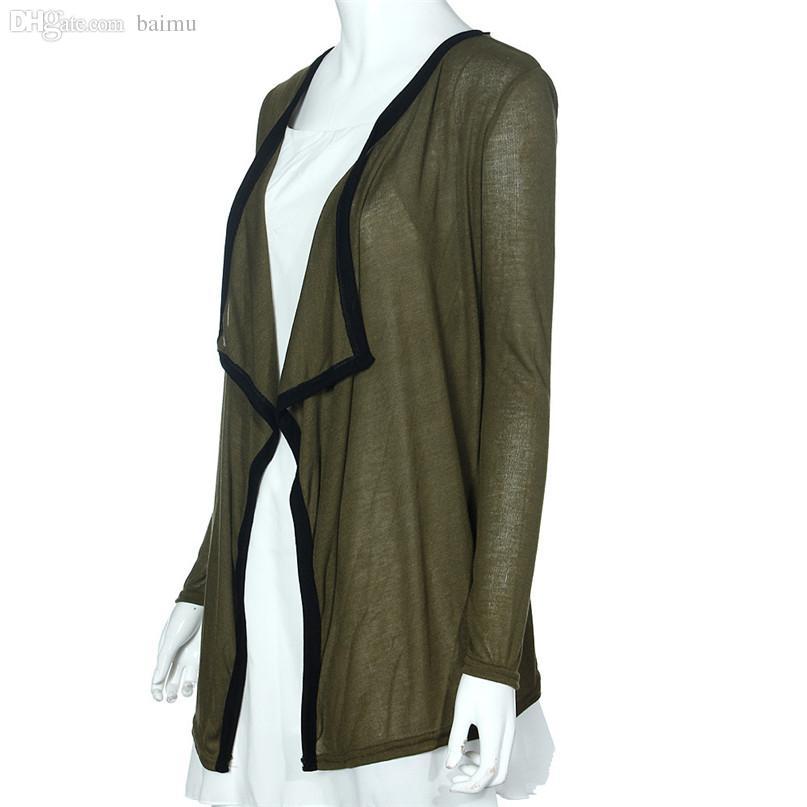 defa080328 Wholesale Lovesky 2016 European Warm Autumn Lady Casual Knit Long Sleeve  Thin Sweater Coat Cardigan Coat Lapel Warm Jacket Outerwear Jackets For  Sale Brown ...