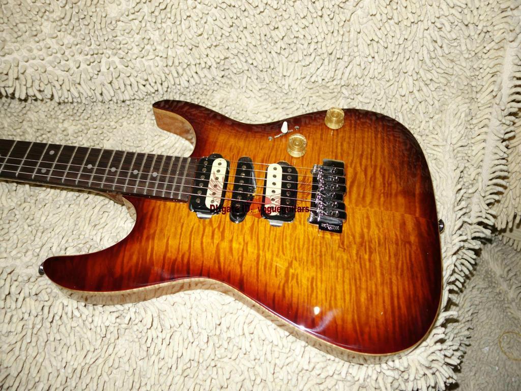 고품질 메이플 탑 일렉트릭 기타 뷰티 기타 무료 배송 A6789
