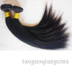 Sin procesar 9A grado brasileño virginal del pelo humano teje la extensión del pelo chino peruano recto 8-26 pulgadas Indian Remy trama del pelo DHgate