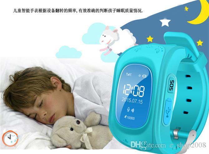 Q50 아이 스마트 시계 어린이 gps 감시 추적자 아이 안전 시계 LBS 위치 SOS 아이들은 IOS 안드로이드 전화 2018에 대한 분실 반대