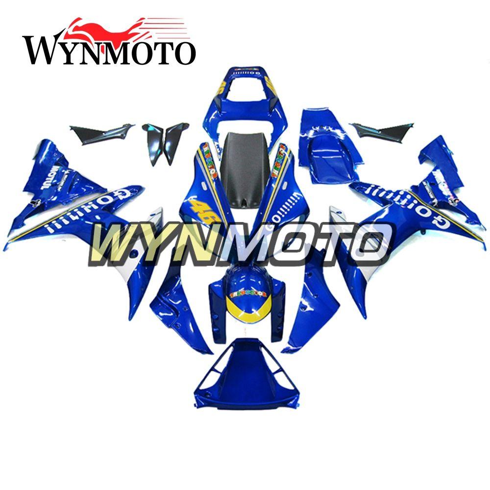 Kits de cuerpo azul Motocicletas Kit completo de carenado para Yamaha YZF 1000 R1 YZF1000 2002 2003 02 03 Inyección ABS Plástico Carrocería Motos Cubiertas