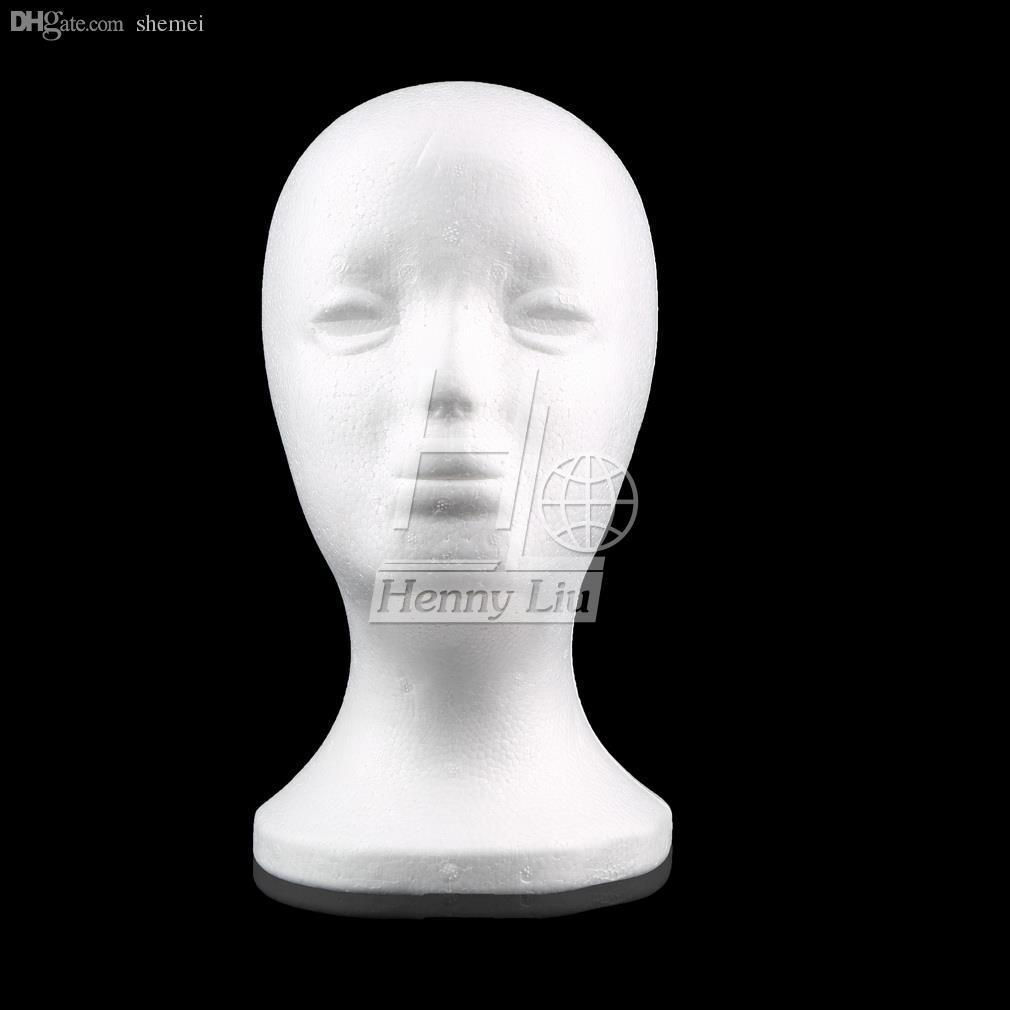Großhandels-Weibliches Styroschaum-Schaum-Mannequin-Mann-Kopf-Modell-Perückehaar-Glas-Hut-Schmucksache-Anzeige