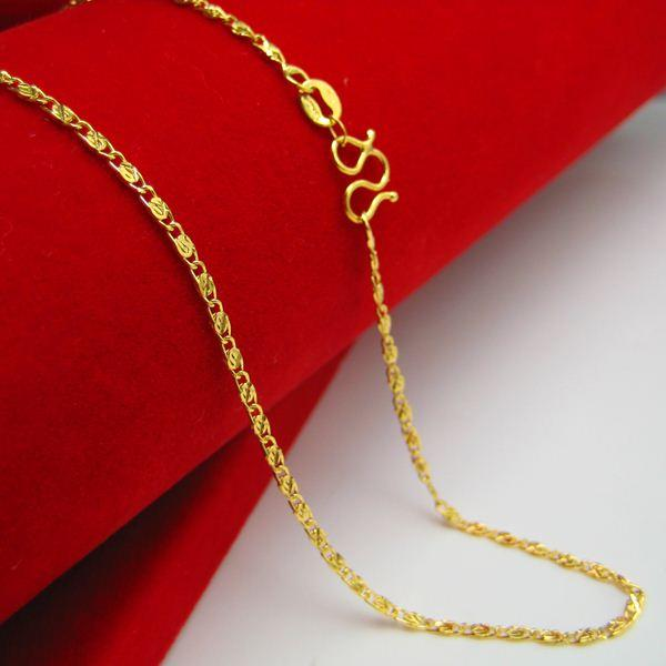 Wholesale For A Long Time Does Not Fade Gold Necklace Gold 18k Gold Imitation Simulation Models And Chains Of Pure Gold Wedding Jewelry Chain Clavicle Fashion Jewelry Locket Necklace From Zhuzhixuanyi 34 18