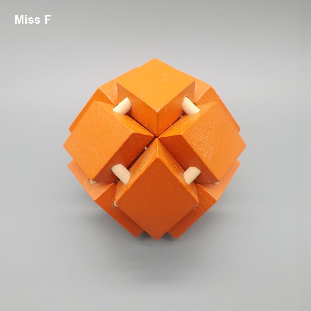 Jogo de madeira mágico da lógica do fechamento de Kong Ming do rombo que bloqueia brinquedos de madeira naturais