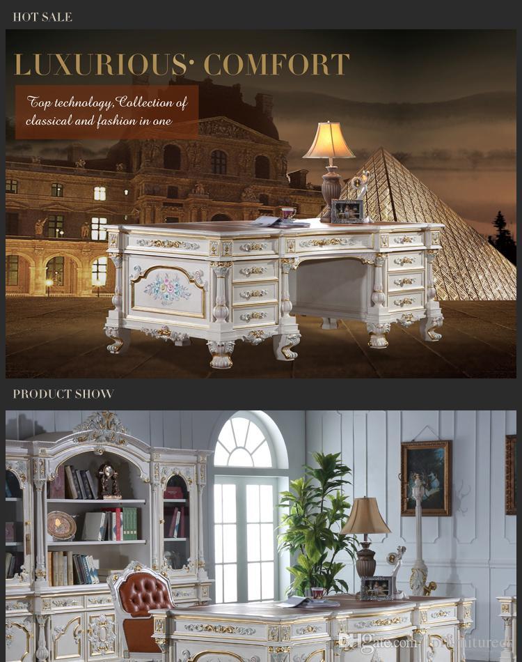 Acheter Bureau Ancien Classique Mobilier De Bureau Classique De Style  Baroque Bureau De Patron De Style Européen De $4939.7 Du Fpfurniturecn | ...