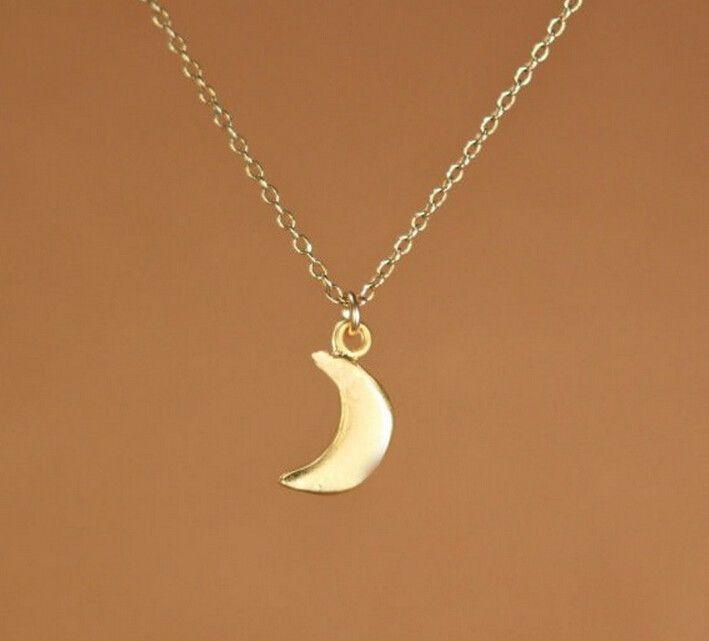 10 PCS- 18 k placcato in oro collana semplice moda sexy piccola luna collana pendente regalo per le donne all'ingrosso spedizione gratuita