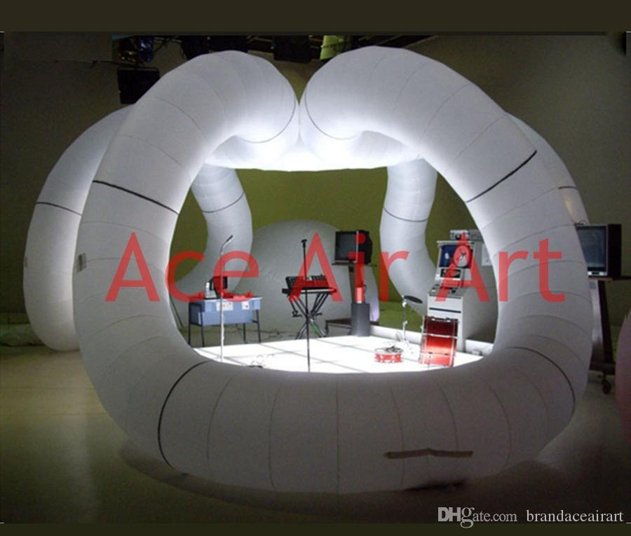 trade show equipment, large inflatable arch tent,Creative outstanding Inflatable Trade show Exhibition Architecture for sale
