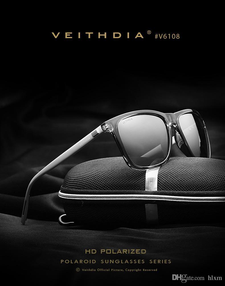 VEITHDIA Retro Aluminium TR90 Sonnenbrille Polarisierte Linse männer Männlich Brillen Zubehör Fahren Sonnenbrille Sport Goggle