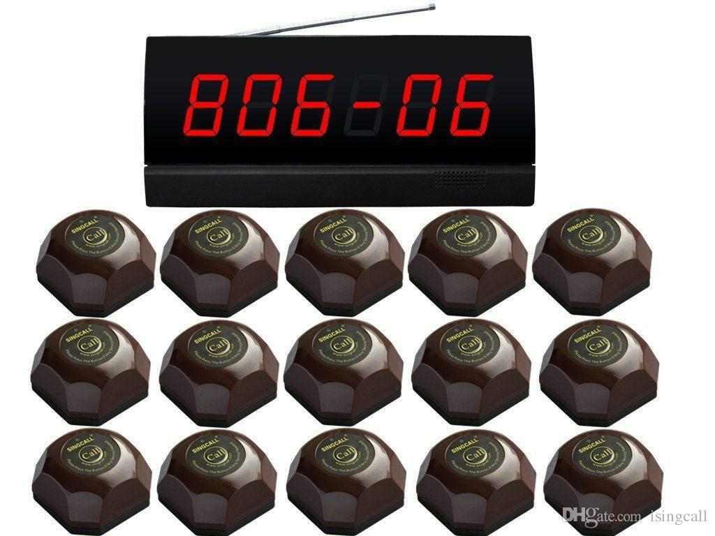 СИНГКОЛЛ. беспроводная система вызова службы для интернет-кафе.15 колоколов кофе и 1 монитор черноты ПК