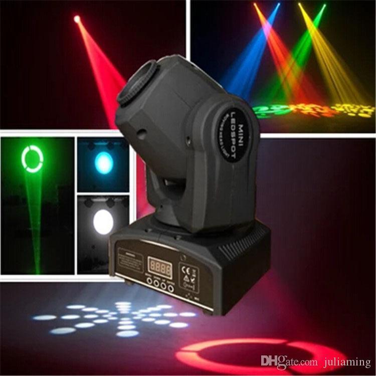 LED 30W 스포트 라이트 DMX 무대 스포트 이동 9/11 채널 dj 고보 효과 무대 조명 미니 LED 이동 헤드