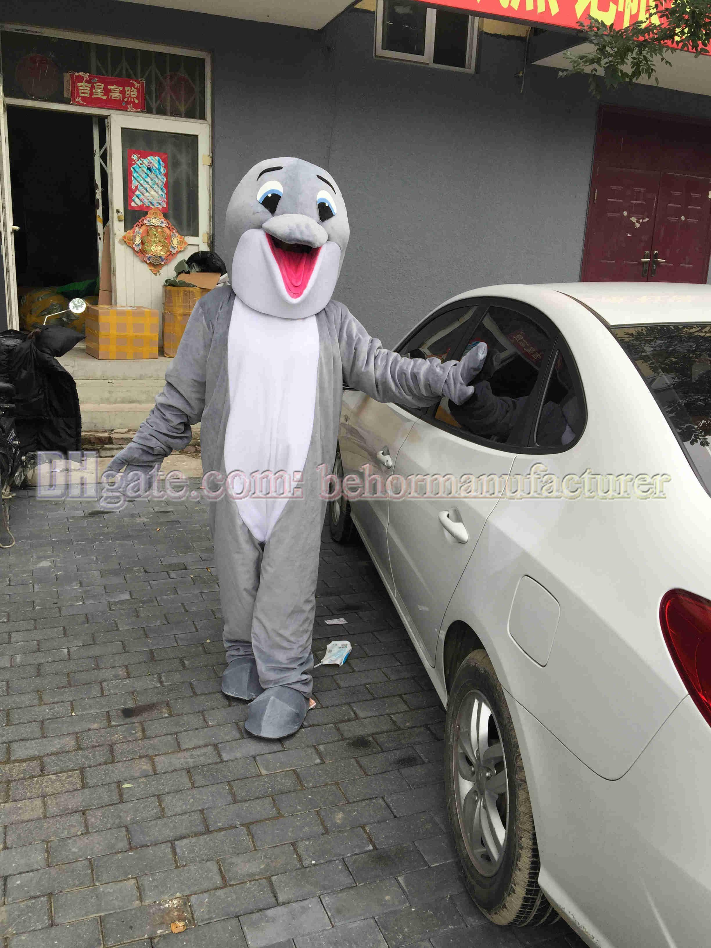 Netter grauer Delphin Plüschmaskottchen Anzug erwachsenen Typ heiße Verkäufe weltweit, Delphin Maskottchen freies Verschiffen verkaufen.