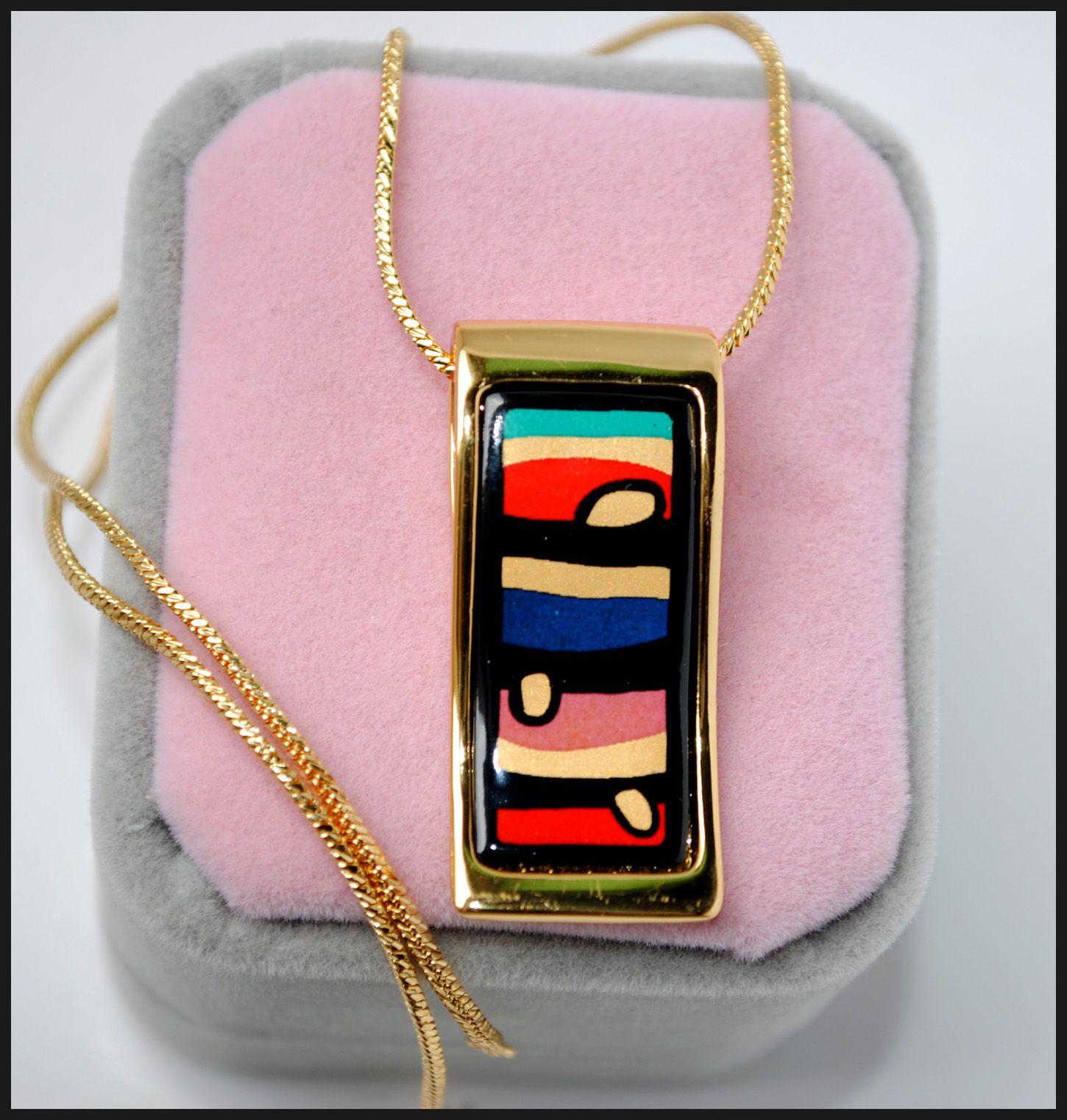 """American Wind Series Collane di smalto placcato oro 18 carati per donna Collane con ciondolo a forma di collana """"S"""" di alta qualità"""