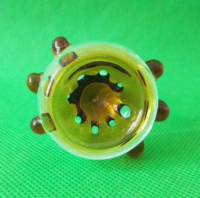 Spessa fodera in vetro colorato 14mm 18,8mm Femmina Giunto con 8 fori Nuovo design per Bubber fumante di acqua Bong