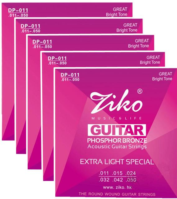 5sets/lot ZIKO 011-050 Acoustic guitar strings musical instruments accessories guitar parts wholesale