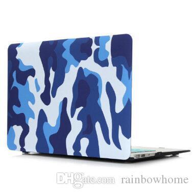 Hartkunststoff Wasseraufkleber Deckel Schutzhülle für Laptop MacBook Air Pro Retina 12 13 15 Zoll Vordere Vordere Tarnung Sternenhimmel