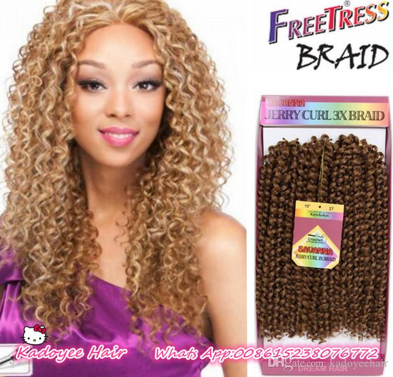 2020 3x Short Curly Hair Styles Freetress Deep Wave Twist Crochet Hair Jerry Curly Savana Box Braids Ombre Braiding Hair Extensions From Kadoyeehair 16 09 Dhgate Com