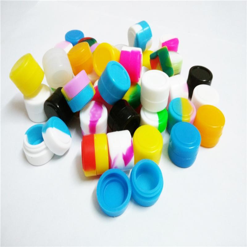 5 X Oil Slicks Silicone Container Non-stick Food Grade Silicone Jar Round Storage Container 2 Ml