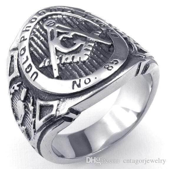 2015 Year New 316L Stainless Steel Casting Freemasonry Freemasons Organization Symbol Rings SZ#8-13,Free and Accepted Masons
